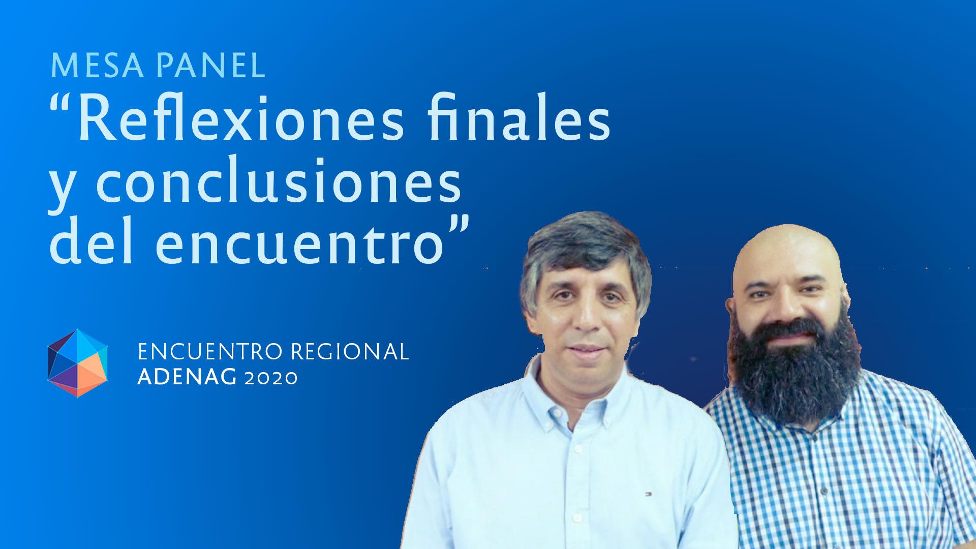 """Mesa-panel: """"Reflexiones finales y conclusiones del encuentro"""""""